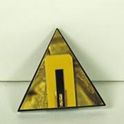 SALE Vintage Geometric Triangle Marbled Plastic Dress Clip