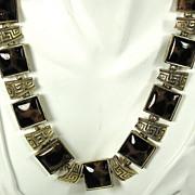 SALE Vintage Turtle Shell Colored Plastic Necklace