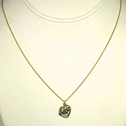 14kt Gold Friend Pendant Necklace