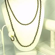 SALE PENDING Vintage 1970s Trifari Gold Tone Metal Braided Necklaces, Bracelet, and Earrings