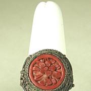 Antique Vintage Chinese Cinnabar Ring