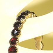 SALE Antique Victorian 1890s Bohemian Garnet Bracelet