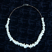 SALE Beautiful White Angel Skin Branch Coral Necklace