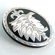 SALE Engraved Sterling Silver Bolo Eagle 90 GZH Hallmark