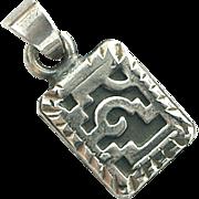Vintage Sterling Silver Pendant