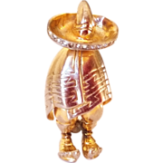 SALE Nice Patent Pending Mexican Goucho Pin/Brooch