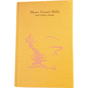 """SALE 1959 Signed First Edition Poetry Book """"Those Desert Hills"""" by Mildred Breedlove"""