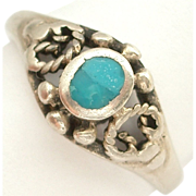 SALE Small Turquoise Sterling Silver Ring