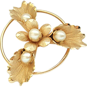 REDUCED Vintage 1/20 12k GF Cultured Pearl Pendant