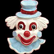 Vintage Gerrys Enamel Clown Face Pin