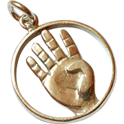 SALE Awesome Sterling Silver Hand Pendant 925