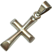 SALE Vintage Sterling Silver Cross Pendant - 925