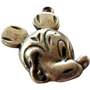 Vintage Sterling Silver Mickey Mouse Disney Charm