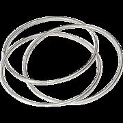 SALE Spectacular Tri Bangle Solid Sterling Silver Bracelet 32.0g