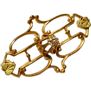 SOLD Vintage Gold Tone Pin
