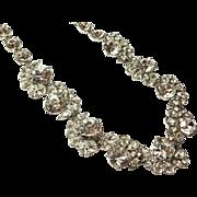 SALE Beautiful Vintage Givenchy Ice Rhinestone Chunky Necklace