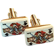 SALE Unique King of Spades Card  Mens Cufflinks / cuff links