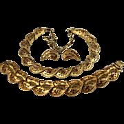 Coro Pegasus Necklace Bracelet Earring Set