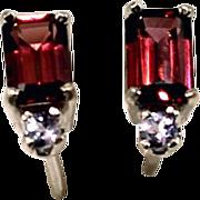 SALE Rhodolite Garnet Tanzanite Gemstone Post Earrings