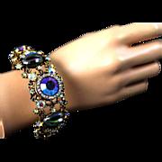 SALE Har Molded Glass Fantasy Stone Clamper Bracelet