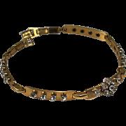 Vintage Signed Barclay Rhinestone Choker Necklace