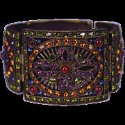 Vintage Heidi Daus Wide Bangle Bracelet