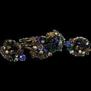 Vintage Hattie Carnegie Clamper Bracelet and Earring Demi