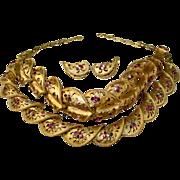 Vintage Coro Necklace Bracelet Earring Parure