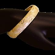 SOLD Estate 14 Karat Gold Bangle Bracelet