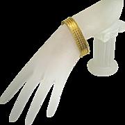 SOLD Estate Woven 18 Karat Gold Fine Heirloom Bracelet