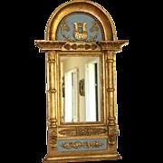 Antique Swedish Empire Paint Decorated Mirror