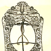 Wonderful Small Early 19th Century Filigree Silver Picture Frame