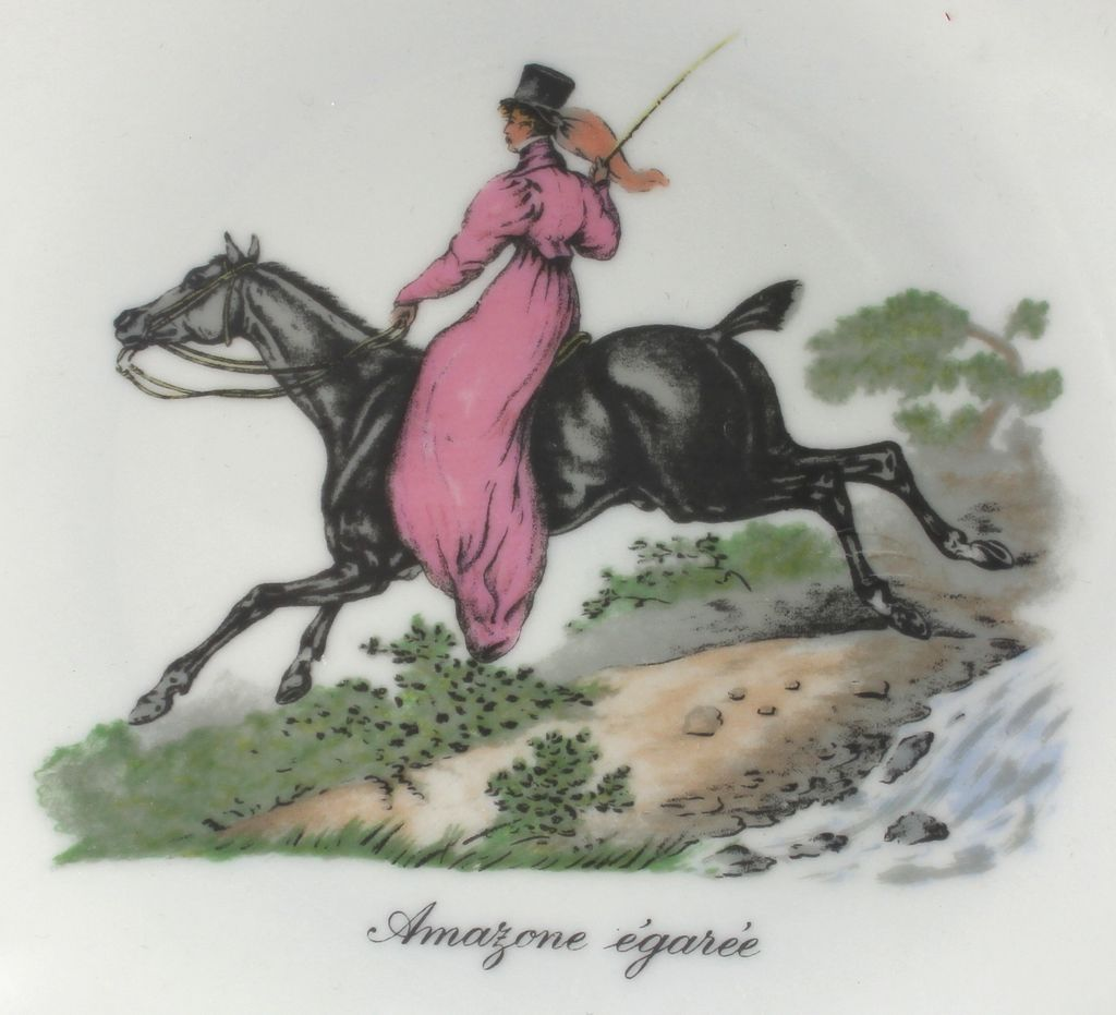 Limoges Cabinet Plate: Amazone Egaree, Raynaud & Co