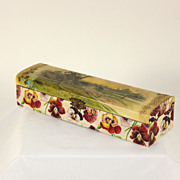 Antique paper mache ladies tie, glove box