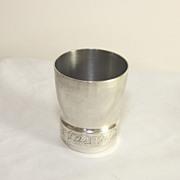 Vintage  French white metal wine cup, beaker