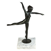 Joseph Brown (1909 -1985)bronze sculpture of a dancing ballerina, signed & numbered