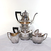 Classic Reed & Barton coffee tea set, silver plate, 5 pieces