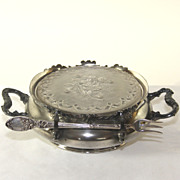 Reed & Barton silver plate strawberry server with glass insert