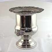 Silver Plate Champagne / Wine Bucket, Towle Silversmiths, great trim