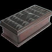Unusual Folk Art, primitive wood wooden knife box