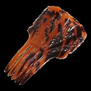 Large vintage faux tortoise shell comb, mantilla
