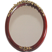 Charming ornate French wood mirror with ormolu mounting, II