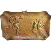 Bronze Bas Relief Neo-classical  Sculpture by listed French artist Emile Henry LaPorte 19th C