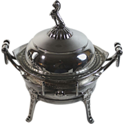 Aesthetic Movement Silverplate Covered Caviar Berry Dish Bowl