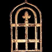 Antique French Architectural Element with Fleur de Lis