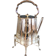 Aesthetic Movement Silverplate Hot Water Pot Coffee Pot with Stand