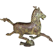 Chinese Bronze Horse Treading on a Flying Swallow, Beautiful Patina