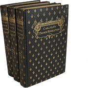 Carlyle's French Revolution, Three Volumes, 19th C Henry T. Coates & Co