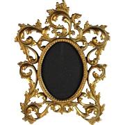 Vintage Bronze French Table Top Photo Frame