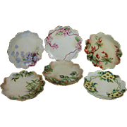 6 Hand-painted Rosenthal R C Malmaison Desert/Salad Cake Plates, Set of Six
